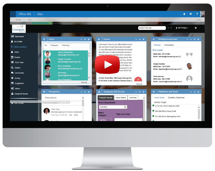SharePoint Intranet Portal, Human Resource Portal, Corporate Intranet,Office 365 Portal,